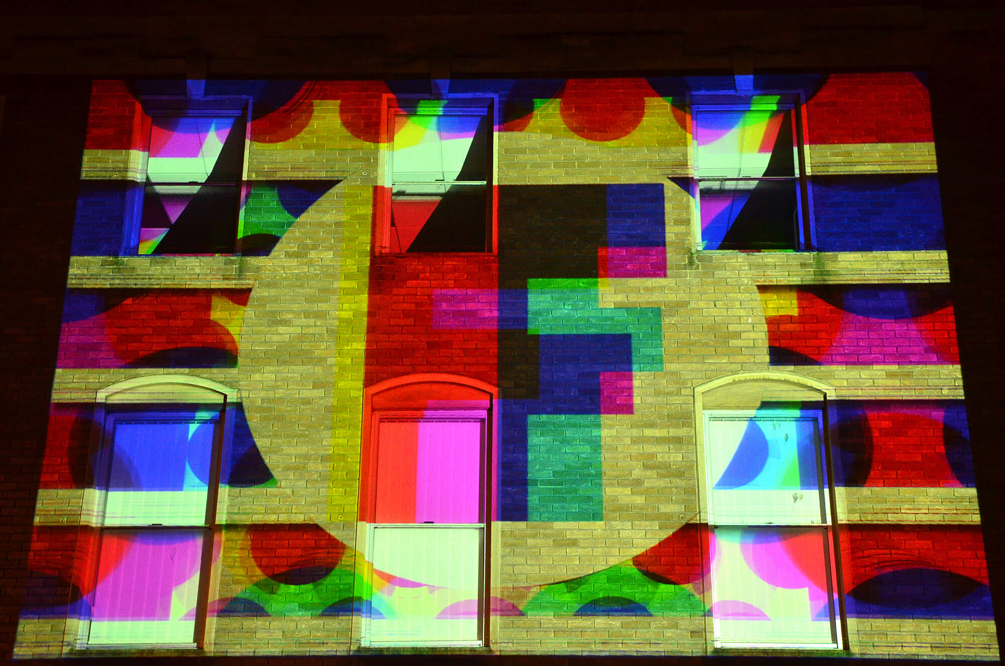 Frequency opening night, Urban Projections. Photo:Jeanine Marteau