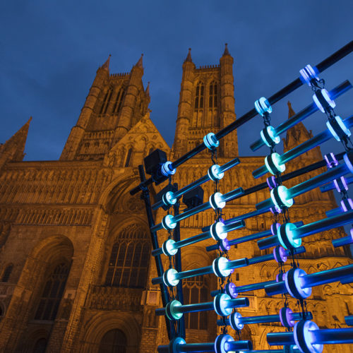 Installation outside Lincoln Cathedral as part of Frequency Festival 2017